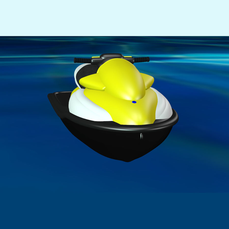 Personal Watercraft royalty-free 3d model - Preview no. 7