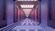 fantascienza tunnel modello 3d 3d model
