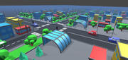 Città semplice - Risorse poli basse 3d model