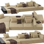 Sofa Poliform WESTSIDE DIVANO 3d model