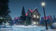 冬の家 3d model