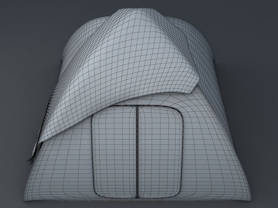 Camping Tent royalty-free 3d model - Preview no. 4
