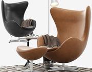 Skórzany fotel do salonu 3d model