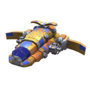 Schwere Raketenkorvette 3d model