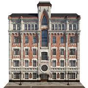 Gothic building facade 3d model