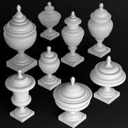 Klassisches Vasen-Set 1 3d model