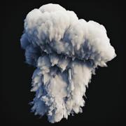 Esplosione di fumo 1 3d model
