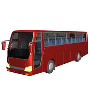 简单巴士模型 3d model