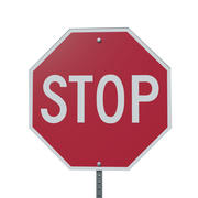 Sign STOP 3d model
