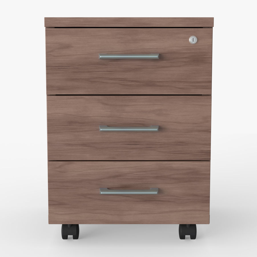 Office drawer cabinet royalty-free 3d model - Preview no. 5