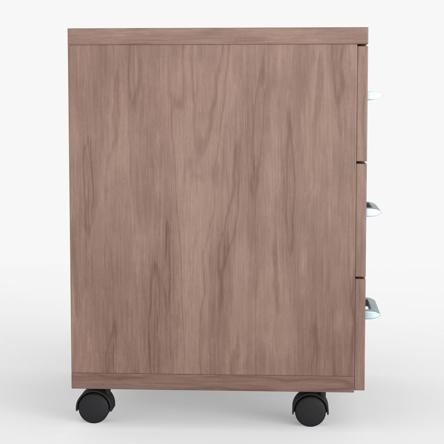 Office drawer cabinet royalty-free 3d model - Preview no. 6