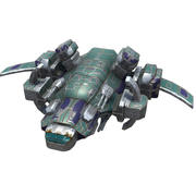 Space Corvette Fighter 3d model