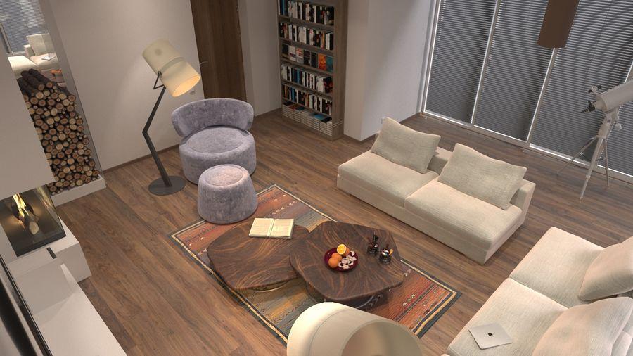 modernes Interieur royalty-free 3d model - Preview no. 8