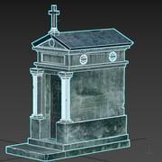 Eski mezar Türbesi yıpranmış 3d model