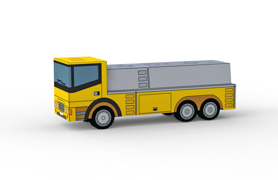 Modello 3D Autocisterna royalty-free 3d model - Preview no. 2