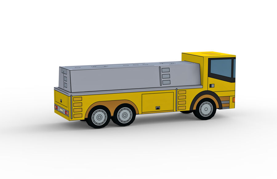 Modello 3D Autocisterna royalty-free 3d model - Preview no. 6