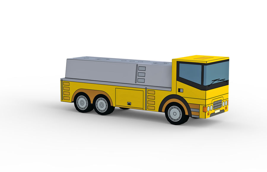 Modello 3D Autocisterna royalty-free 3d model - Preview no. 7