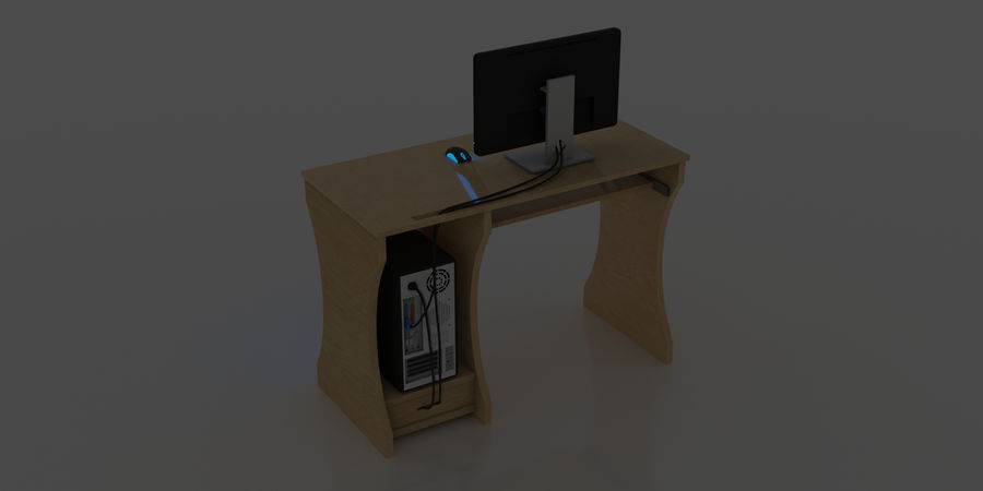 Desktop-Computer royalty-free 3d model - Preview no. 5