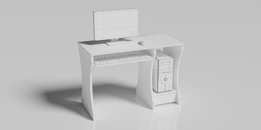 Desktop-Computer royalty-free 3d model - Preview no. 10