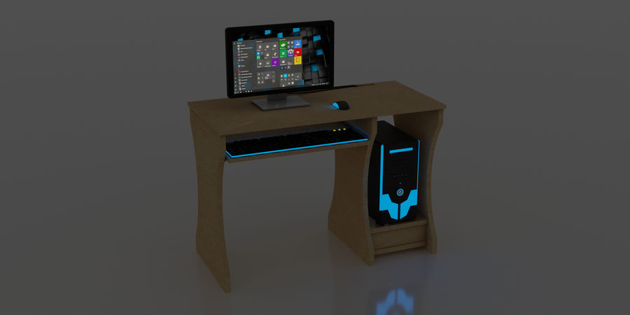 Desktop-Computer royalty-free 3d model - Preview no. 4