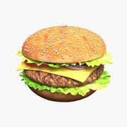 Hamburger z Kotletem I Warzywami 3d model