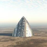 Yabancı Uzay Gemisi veya Bina 3d model