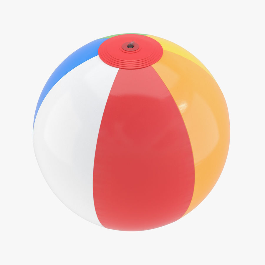Beach Ball royalty-free 3d model - Preview no. 1