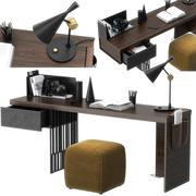 Scriba çalışma masası Molteni tarafından 3d model