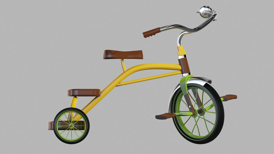 Fiets royalty-free 3d model - Preview no. 4