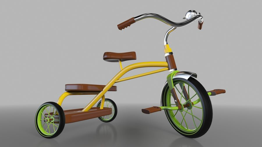 Fiets royalty-free 3d model - Preview no. 1