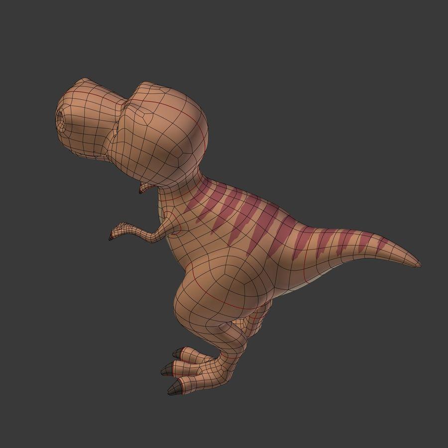 Dino Dinosaur Trex royalty-free 3d model - Preview no. 17