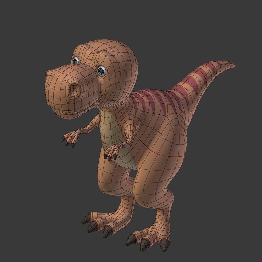 Dino Dinosaur Trex royalty-free 3d model - Preview no. 11