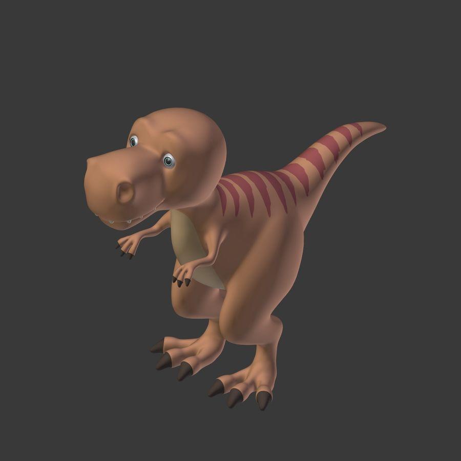 Dino Dinosaur Trex royalty-free 3d model - Preview no. 20
