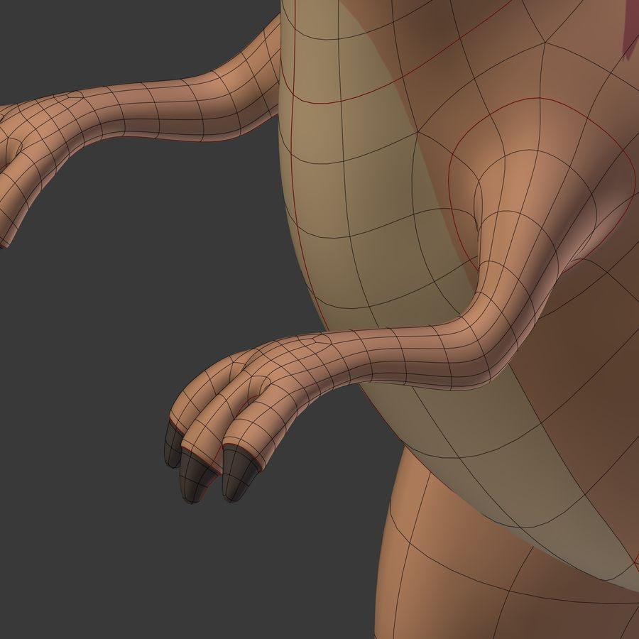 Dino Dinosaur Trex royalty-free 3d model - Preview no. 29