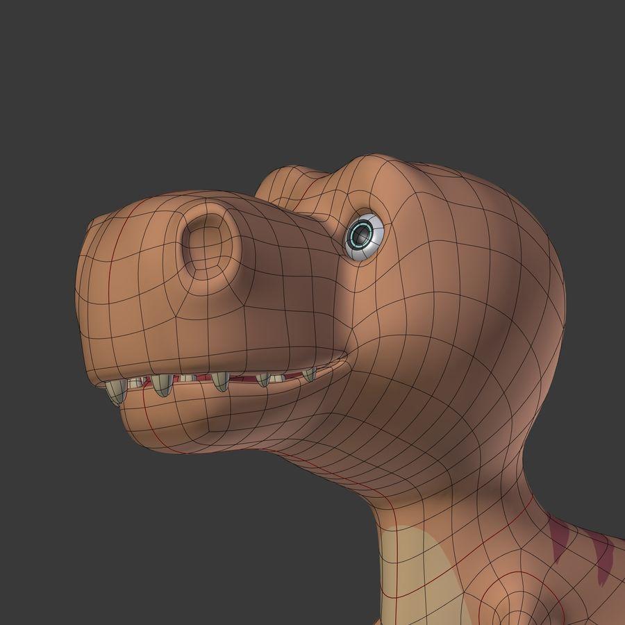 Dino Dinosaur Trex royalty-free 3d model - Preview no. 33
