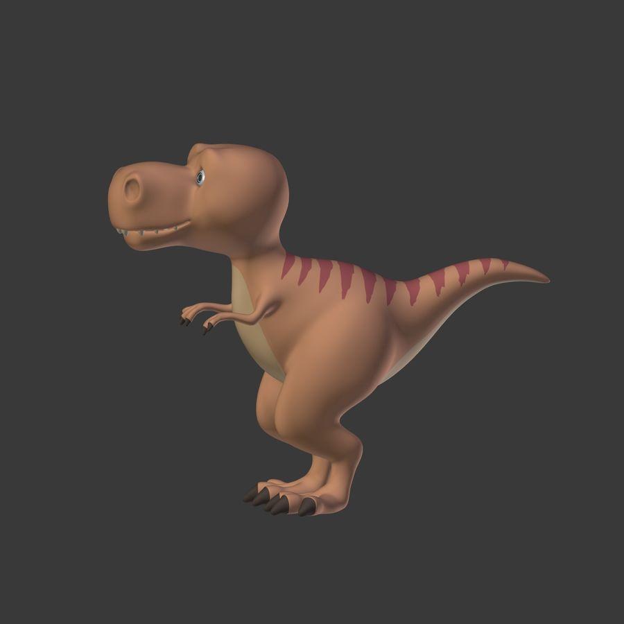 Dino Dinosaur Trex royalty-free 3d model - Preview no. 12