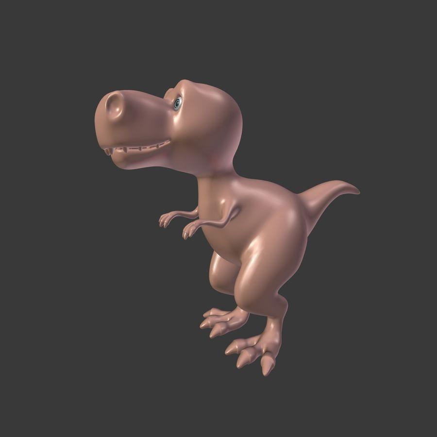 Dino Dinosaur Trex royalty-free 3d model - Preview no. 4
