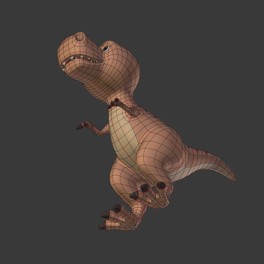 Dino Dinosaur Trex royalty-free 3d model - Preview no. 27