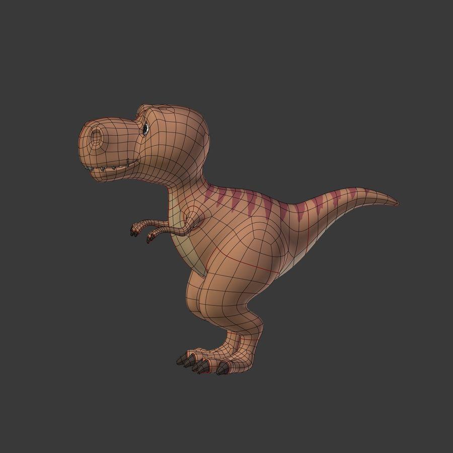 Dino Dinosaur Trex royalty-free 3d model - Preview no. 13