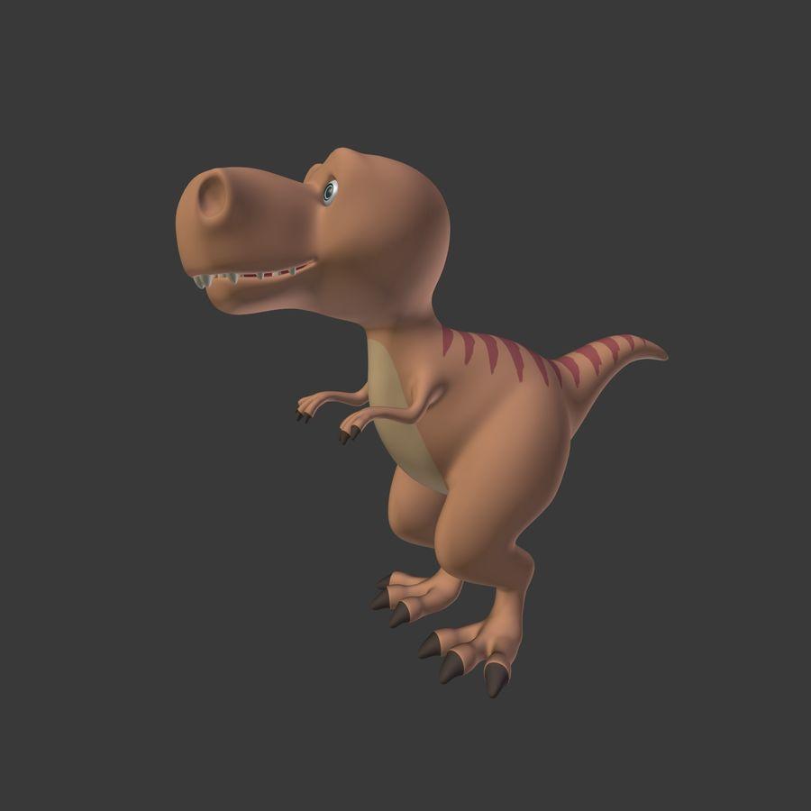 Dino Dinosaur Trex royalty-free 3d model - Preview no. 2