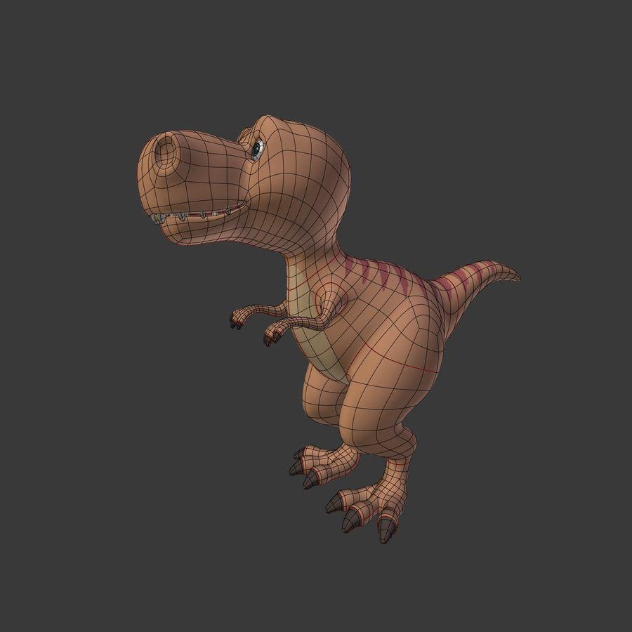 Dino Dinosaur Trex royalty-free 3d model - Preview no. 3