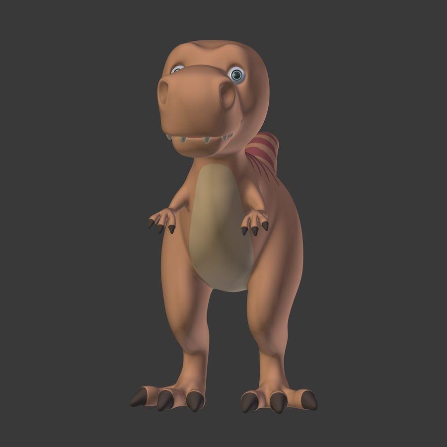 Dino Dinosaur Trex royalty-free 3d model - Preview no. 8