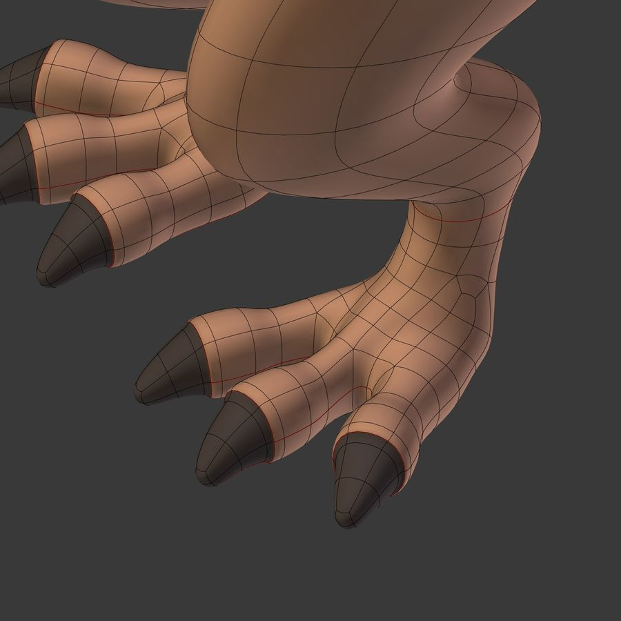 Dino Dinosaur Trex royalty-free 3d model - Preview no. 31
