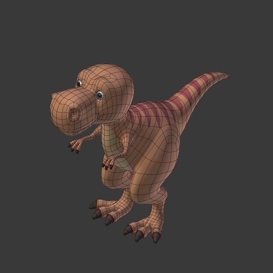 Dino Dinosaur Trex royalty-free 3d model - Preview no. 21