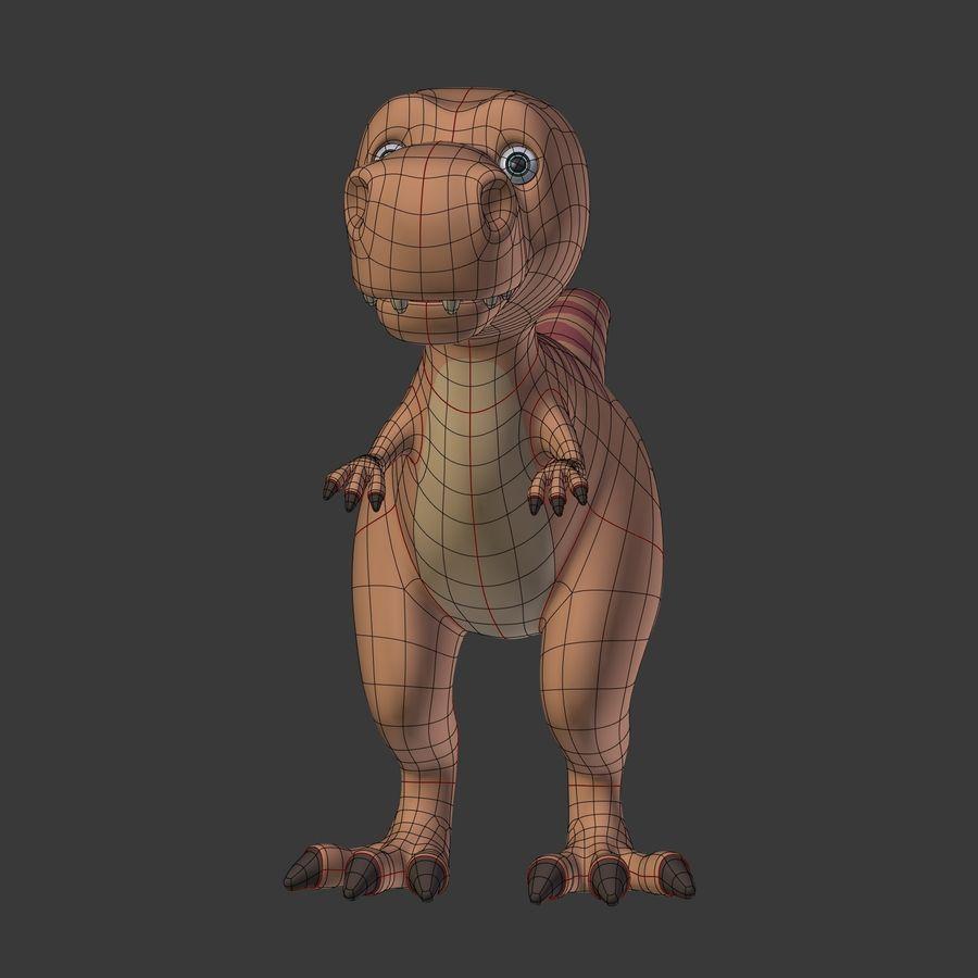 Dino Dinosaur Trex royalty-free 3d model - Preview no. 9
