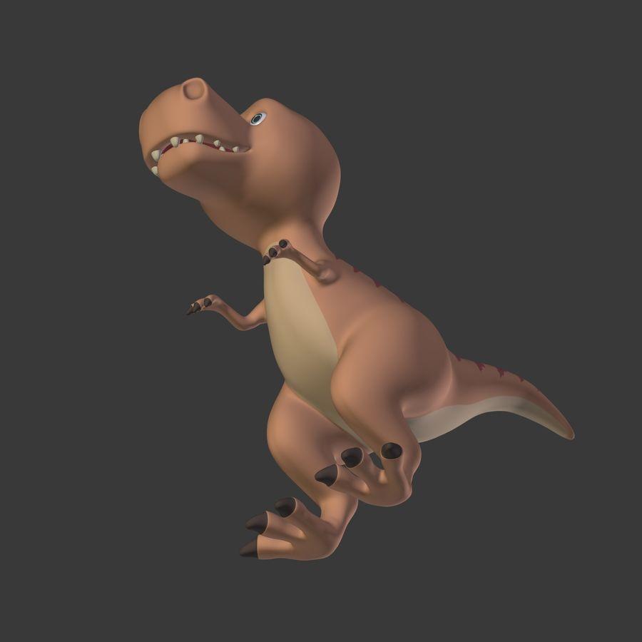 Dino Dinosaur Trex royalty-free 3d model - Preview no. 26