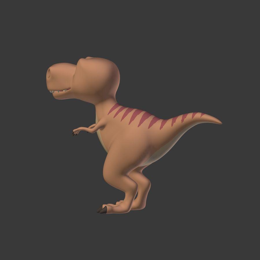 Dino Dinosaur Trex royalty-free 3d model - Preview no. 14