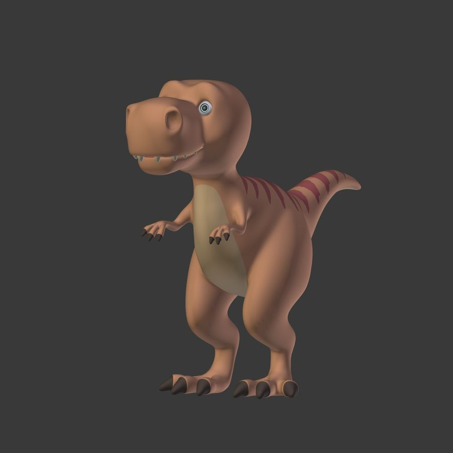 Dino Dinosaur Trex royalty-free 3d model - Preview no. 6