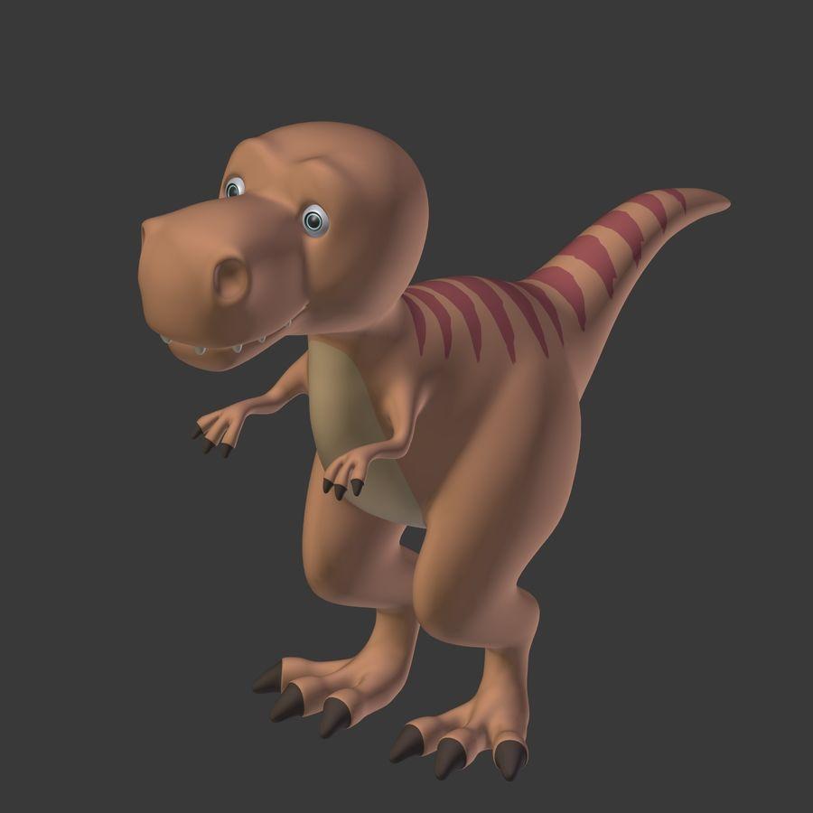 Dino Dinosaur Trex royalty-free 3d model - Preview no. 10