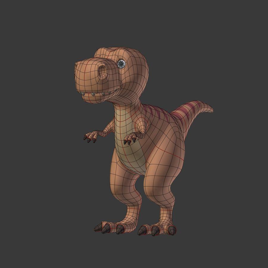 Dino Dinosaur Trex royalty-free 3d model - Preview no. 7
